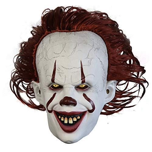 Clown The Soul Latex Masker Halloween Hoofddeksels Masker Volledige Gezicht Rood Haar Kostuum Cosplay Masker,Stylea