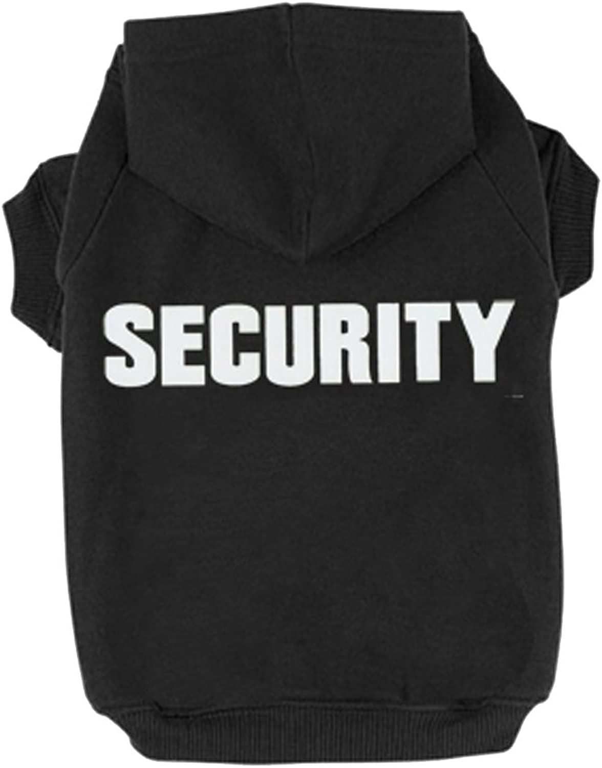 BINGPET BA10021 Security Patterns Printed Puppy Pet Hoodie Dog Clothes XL