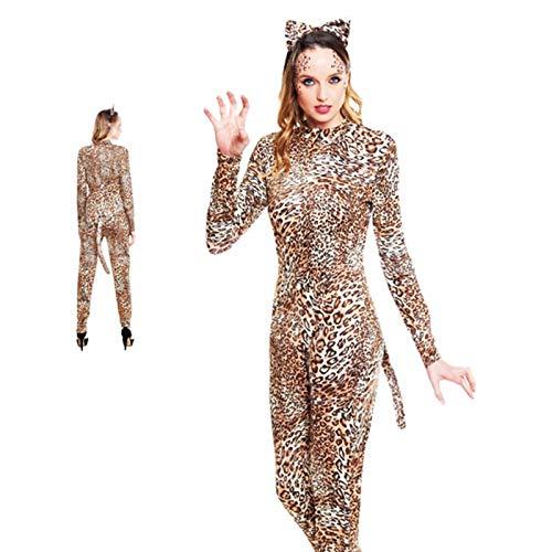 Partilandia Disfraz de Leopardo para Mujer Talla M