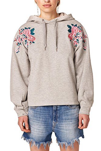edc by ESPRIT Damen 028CC1J007 Sweatshirt, Grau (Light Grey 5 044), Medium