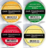 Bath and Body Works 4 Pack Scentportable Fragrance Refill 0.2 Oz. Sugared Snickerdoodle, Vanilla Bean Noel, Strawberry Poundcake and Pumpkin Cupcake
