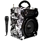 Music Life Streetstar Equipo HiFi de Audio, Altavoz Karaoke amplificad Potencia máxima 400W• Bluetooth • Puerto USB y SD Reproductor MP3 •2 Entrada micrófono (Modelo 14)