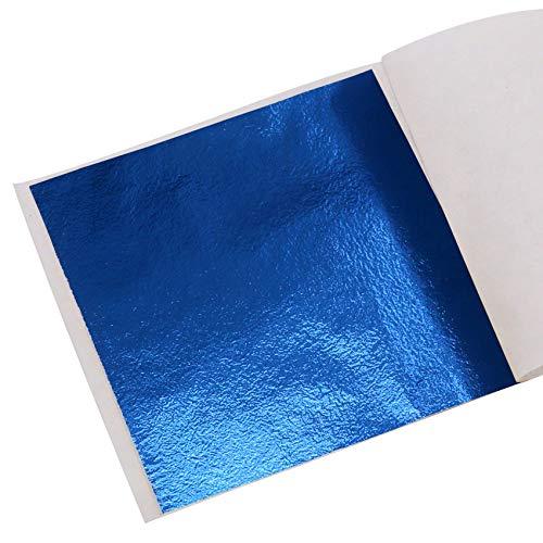 KINNO Imitation Blattgold 100 Stück 8x8.5cm Kunsthandwerk Kunstprojekt Möbel Gemälde Wand DIY Blau