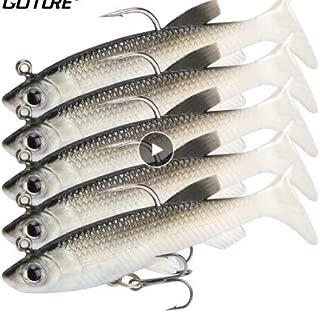 5 Pieces Soft Fishing Lure Wobbler Swimbait Silicone Isca Artificial Bait Carp Fishing Lead Jig Fish Pesca 13g/8.5cm