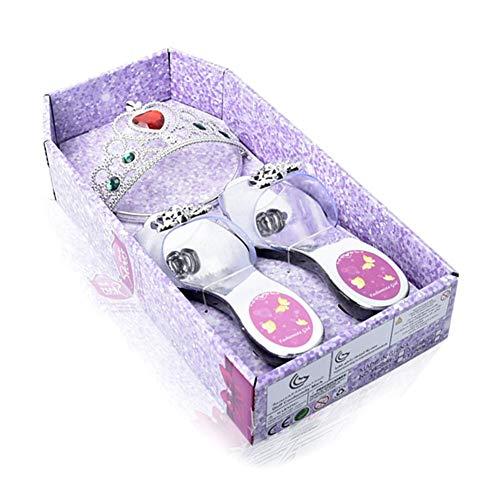 Eternitry Habillage Jouer Princesse Chaussure Et Bijoux Boutique Plusieurs Accessoires De Mode Princesse Bijoux Ensemble Cadeau pour Enfant Filles