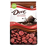 Contains one (1) 43.07-ounce, 150-piece bag of DOVE PROMISES Dark Chocolate Candy Features dark chocolate DOVE PROMISES Candy Share DOVE Chocolate in Easter baskets, Christmas stockings, on baked goods or in candy dishes Each individually foil-wrappe...