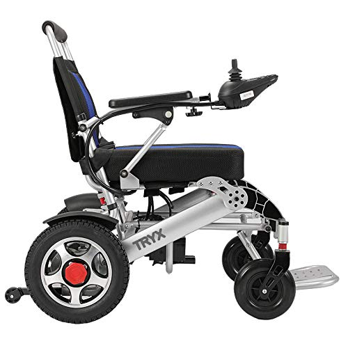 TRYX-PRO 500W Folding Electric Wheelchair, Upgraded Tires, Powered Motorized Compact Mobility Aid Wheelchair (Silver), Remote Control ~ USA Seller ~