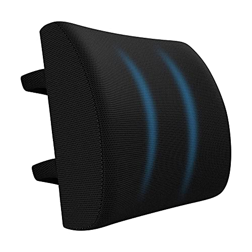 Tesya Lumbar Support Cushion, Seat Cushion and Lumbar Support Back Cushion Non-Slip Car Seat Cushion,Ergonomic Lumbar Cushion for Office Chair and Car Seat with Adjustable Strap (A)
