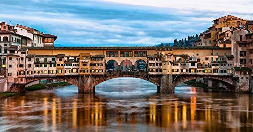 HCYEFG per Adulti Adulti Puzzle 1000Pezzi Scenario della Città di Firenze Art Puzzle Fai da Te