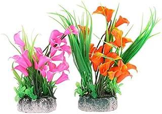 eDealMax Inicio Fish Tank Vertical ramo de la Flor del ornamento del acuario de plantas 2