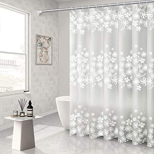 WEIXINHAI Duschvorhang mit Badezimmerfutter, 80 x 80 Zoll Duschvorhang, aus 100prozent PEVA, Duschvorhang, Duschverkleidung, Rostschutzdichtung, wasserdichter Duschvorhang mit 3D-Effekt.