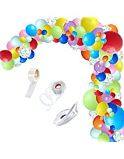 Balloons Garland Kit,120Pcs Colorful Balloons Assorted Multicolor Latex Balloon for Baby Shower, Wedding, Birthday, Graduation, Anniversary Organic Party