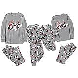 Alueeu Pijamas Dos Piezas Familiares de Navidad Moon Invierno Otoño Mamá Papá Niños Bebé Chándal Homewear Pijamas Navidenos Unisex riou