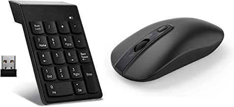 Wireless Computer Mouse with Wireless Numeric Keypad
