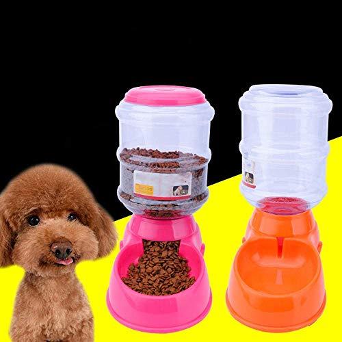 JINHUADAI Wasserflasche im Freien Tiernahrung, Tierfutterautomat Trinken 3,5 Liter 3,5 Liter, Katze Futternapf Welpen pet Trinken (Color : Green, Size : Drinking Fountain 3.5L)