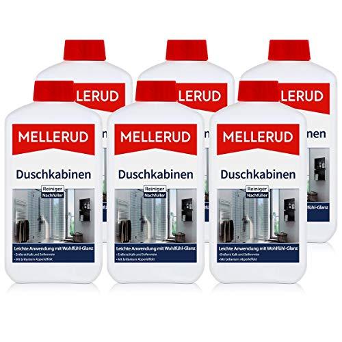 Mellerud Duschkabinen Reiniger Nachfüller 1L - Gegen Kalk (6er Pack)