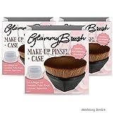GlammyBrush – Brocha de maquillaje + funda, pinceles de maquillaje con práctica caja (3 unidades)