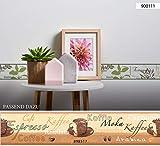 A.S. Création selbstklebende Bordüre Stick ups Küche Kaffee 5,00 m x 0,13 m beige braun creme Made in Germany 898517 8985-17 - 6