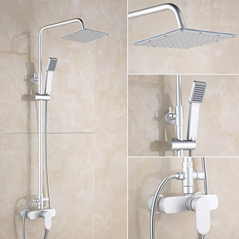 Bijjaladeva Antique Bathroom Sink Vessel Faucet Basin Mixer Tap The space aluminum shower set two stall shower faucet shower