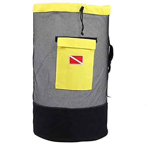 minifinker Bolsa de Deriva, Bolsa de Buceo Diseño de Estilo Mochila para natación a la Deriva, Montañismo para Viajes en Kayak, Senderismo Camping(Negro + Amarillo)