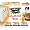 Purina Fancy Feast Gravy Wet Cat Food Variety Pack, Delights With Cheddar Grilled Collection - (24) 3 oz. Cans