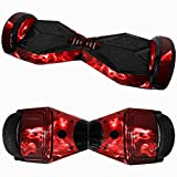 Iusun 6.5' Skin for Self-Balancing Electric Scooter - PVC Sticker for Skate Hover Board - Decal for Self Balance Mobility Longboard 2 Wheel Scooter (A)