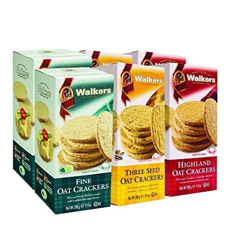 Walkers Shortbread Oat Cracker Variety Pack, (2 of Each: 3 Seed Oat Crackers, Highland Oat Crackers, Fine Oat Crackers), 6 Count