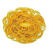 1500 Piezas Bandas De Goma, Bandas Elásticas Amarillas Para El Hogar, Oficina Bancaria, Artesanías Industriales