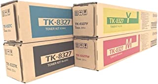 WCI Best Value Pack of All (4) Genuine Original Kyocera-Mita Brand TK-8327 Toner Cartridges + a FREE $25 Restaurant Gift Card. (Black/Cyan/Magenta/Yellow) for: Kyocera-Mita TASKalfa 2550c/2550ci