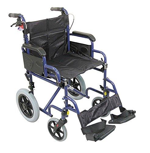 Aidapt VA169BLUE Deluxe-Rollstuhl aus Stahl zum Antrieb