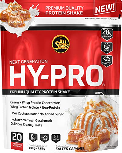 All Stars Hy-Pro Protein, Salted Caramel, 1er Pack (1 x  500 g)