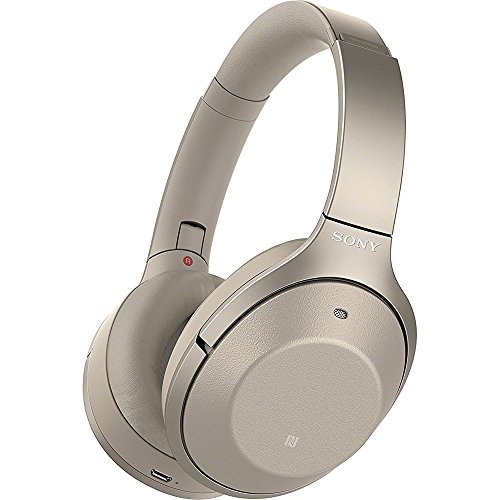 Sony WH-1000XM2 Wireless Digital Noise Cancellation Headphones with Sense Engine (Gold)