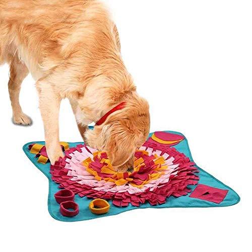 miaomimi Almohadilla de olfato para perros Pet Sniffing Sensitive Training Mat tipo flor Sniffing manta anti comer Lenta comida perro Mat Burlas Pet Toy Pad