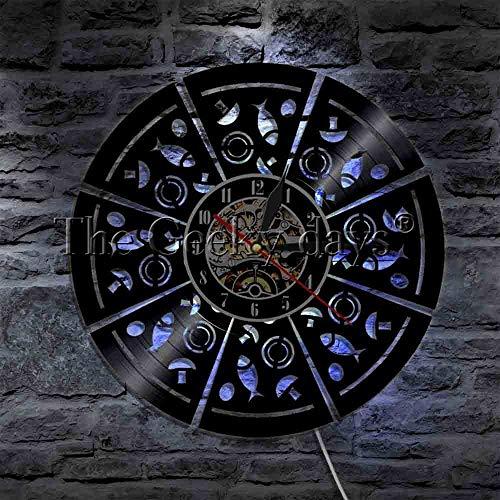Modernes Nachtlicht 1 Pizzeria Logo LED Lite Logo Pizzeria Design dekorative Beleuchtung Nachtlicht Pizzeria Emblem Licht geometrisches Design roter Kuli Tisch Lampenschirm