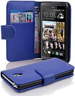 Fodral kompatibelt med HTC Desire 700 i KUNGS BLÅ - Skyddsfodral av strukturerat syntetiskt Läder med Stativfunktion och K...