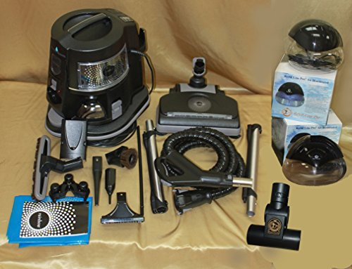Rainbow e2 Vacuum Black Model Exclusive Royal Line Pro Ultra Deluxe Bonus Package w/2 Exclusive Air Purifiers and Turbonozzle (Renewed To Like New Condition)