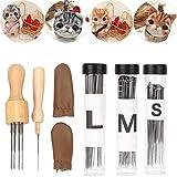 Fieltro de aguja Kit de costura Lana de fieltro Starte Tool Protectores de dedos Fieltro Kit de artesanía Agujas de fieltro para DIY Artes y manualidades Fabricación