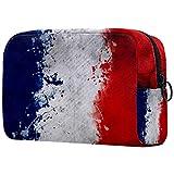 Neceser de Maquillaje para Mujer Bolso Organizador de Kit de Viaje cosmético,Bandera Francesa