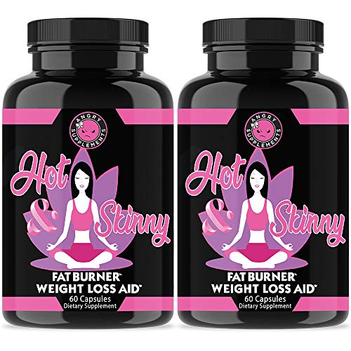 Angry Supplements Hot & Skinny Thermogenic Diet Pills, Weight Loss Capsules for Women, Fast Fat Burning, Non-GMO All-Natural Metabolism Booster, Appetite Suppressant (2-Bottles)