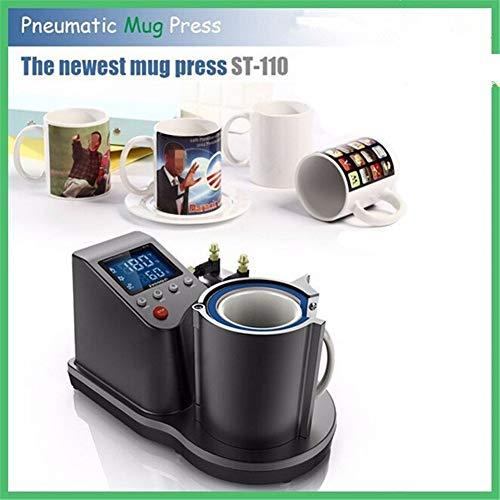 Máquina para Hornear Mini Taza neumática 3D, Transferencia de Calor, impresión por sublimación, St-110, 280 W, Herramienta automática de impresión Negra
