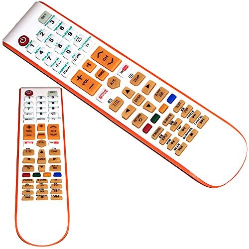 Mando a Distancia, Mando Universal TV, Mando Control Remoto con botón Netflix y Youtube, Compatible con la mayoría de televisores - Fácil de Usar.