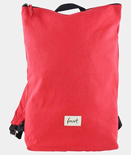 FORVERT Unisex Bag Colin minimalistischer Rucksack mit zurückgenommenem Design für Puristen, rot (red)