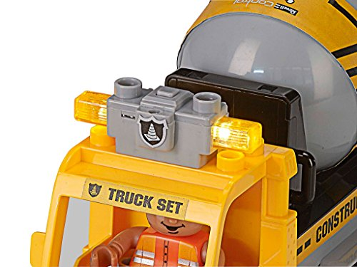 RC Auto kaufen Baufahrzeug Bild 2: Revell Control Junior RC Car Betonmischer - ferngesteuertes Baufahrzeug mit 27 MHz Fernsteuerung, kindgerechte Gestaltung, ab 3, mit Teilen und Figur zum Bauen und Spielen, LED-Blinklichtern - 23007*