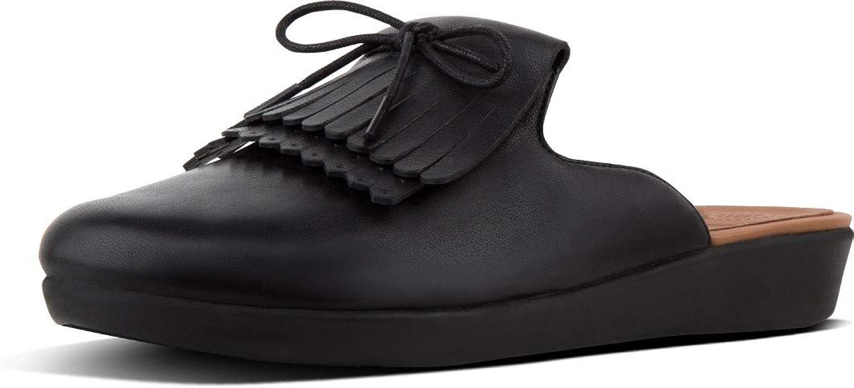 Fittflop Fittflop Fittflop kvinnor Superskridsko Läder Slip På Mulor  till försäljning online