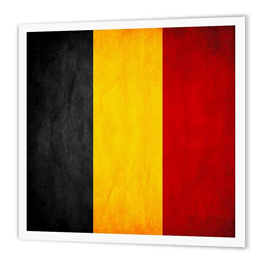3dRose ht_28227_1 Belgium Flag-Iron on Heat Transfer Paper for White Material, 8 by 8-Inch