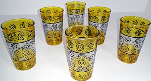 6 Moroccan Turkish Middle East Tea Glass Serving Tea Pot tumbler Candle cup shot moroccan tea glasses glass
