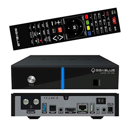 GigaBlue UHD IP 4K Single Tuner DVB-S2X - Multiroom Multimedia Multistream HDMI UHD Full HD USB 3.0 SD Kartenleser