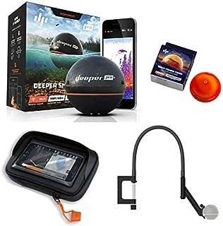 Deeper Smart Sonar Pro + Plus Juego WiFi GPS + Night Fishing Cover + Brazo Flexible Plana + Case