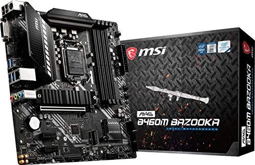MSI MAG B460M Bazooka Gaming Motherboard (mATX, 10th Gen Intel Core, LGA 1200 Socket, DDR4, Dual M.2 Slots, USB 3.2 Gen 1, 2.5G LAN, DVI HDMI)