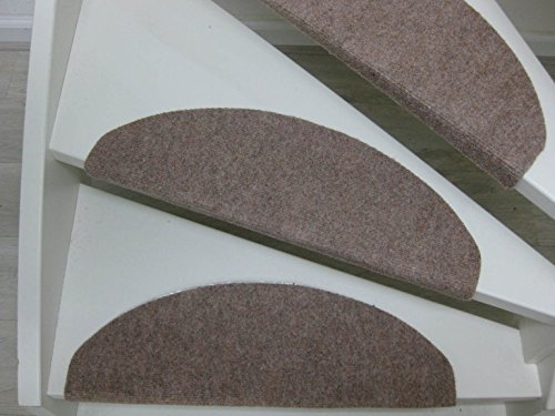 Borneo 15 Tappeti per scalini - passatoie per singoli gradini 65x25cm braun-beige, beige, blu,antracite (braun-beige)